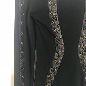 Bebe Kardashian Chain black dress XS